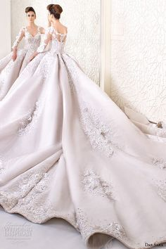 dar sara bridal 2016 wedding dresses stunning ball gown embroidered floral 3 4 quarter sleeves v neckline corset bodice -- Dar Sara 2016 Wedding Dresses 2016 Wedding Dresses, Wedding Attire, Bridal Dresses, Wedding Gowns, Dresses 2016, Beautiful Gowns, Dream Dress, Bridal Collection, Pretty Dresses