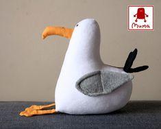 Seagull Pocket Muma, Little White Bird, Soft Plush Seagull Toy
