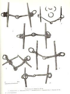 10-11th century bits, Russia.