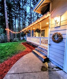 Matrix String Lights, Sidewalk, Twinkle Lights, Pavement, Curb Appeal, Garlands, Lights