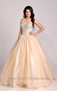 Wholesale Ball Gowns - Buy 2015 Beautiful Full Crystal And Beads Top Organze Ball Gown Quinceanera Dresses Sweetheart Sequins Floor Length Lace Up Back Ball Gown, $136.13 | DHgate.com