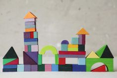 Grimm's Rainbow Block Puzzle | Shop by More & Co. - More & Co.