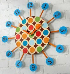 Retro Star Burst Clock
