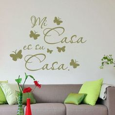 "Style and Apply Mi Casa es Su Casa Quote Wall Decal Size: 59"" H x 43"" W, Color: Black"