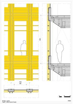 Facade Detail of Central St. Giles Court in London / Renzo Piano and Fletcher Priest Architects Architecture Design, Architecture Graphics, Architecture Student, Architecture Drawings, Facade Design, Cladding Design, Architecture Diagrams, Architecture Portfolio, Renzo Piano