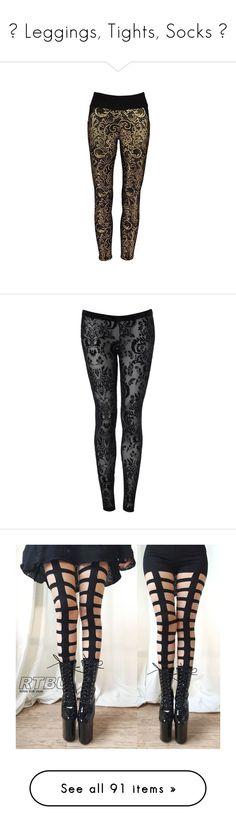 """""""♡ Leggings, Tights, Socks ♡"""" by lululilacdoll ❤ liked on Polyvore featuring pants, leggings, brown jeggings, jeggings leggings, lace trousers, jean leggings, brown pants, bottoms, jeans и tights"""