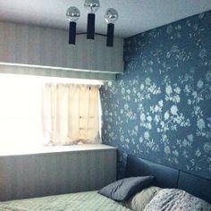 MSY69さんの、ベッド周り,照明,壁紙,リノベーション,寝室はシンプルスッキリ。,のお部屋写真