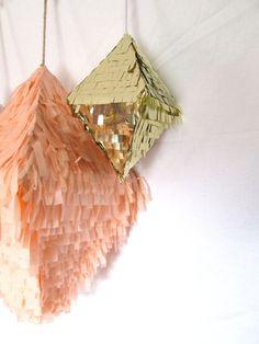Mini Gold Octahedron Crystal Confetti Pinata by StudioMucci, $75.00