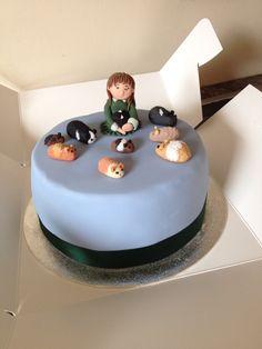 Guinea pigs birthday cake