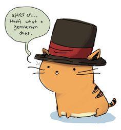 Gentleman cat I love it
