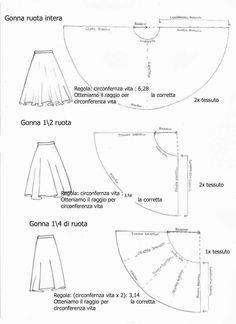 Cartamodelli per gonne corte da realizzare con il fai da te  (Foto 9/40) | Donna