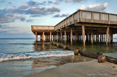 """Pier at Dusk"" *Buckroe Beach, Hampton,Virginia*  [Photographer *Darwin Alberto* 2011]  'h4d' 120808"