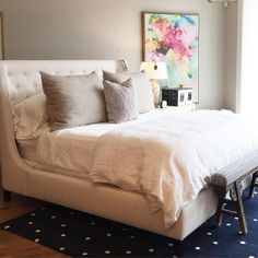 """""""We love white linens, but throw in a splash of pink and polka dots and we're like   Out #WhiteSale ends this weekend, so hurry in for 20% off all beds,…"""""""