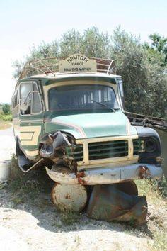 Broken down bus near village of Lemona.