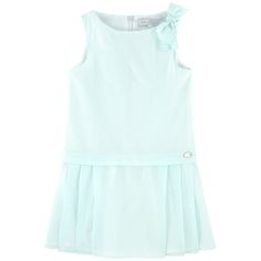 Cotton voile Fine cotton lining Sleeveless shape Crew neck Sleeveless Pleated skirt Invisible zipper at the back Stripe print Small logo medal Fancy bow - $ 72,39