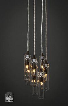 Possini Euro Design Wired 18 Wide Glass Multi Light Pendant