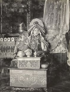 The Maharani of Sikkim, c.1900, photo by John Claude White, page 207 in Posing for Posterity: Royal Indian Portraits by Pramod Kumar KG