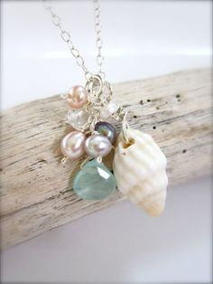 Shells, Shells, Shells - A pretty beachy dainty shell necklace - made in Hawaii