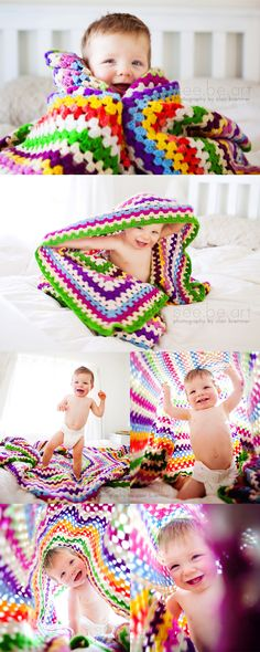 I want someone to crochet me this for baby boy. I love this type of blanket. In fact, crochet one for me! Maybe I should learn how to crochet.