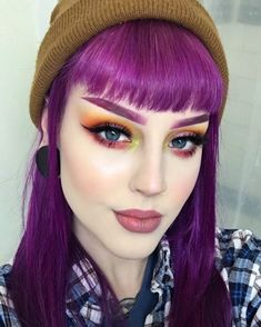 stuns in long magenta locks - try our Magenta Ombre kit for a similar style! Plum Purple Hair, Purple Hues, Ombre Kit, Coloured Hair, Ombre Hair Color, Hair Trends, Dyed Hair, Ecommerce, Like4like