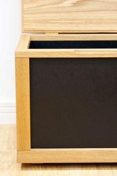 Treasure Chest A durable storage chest with a timeless aesthetic from European Oak and black Valchromat.