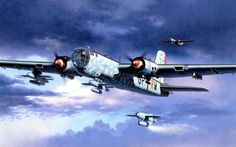 Aviãos Desenhado heinkel, he 177, luftwaffe Aviação