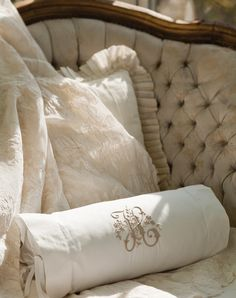 Classic monograms on the most beautiful linens.