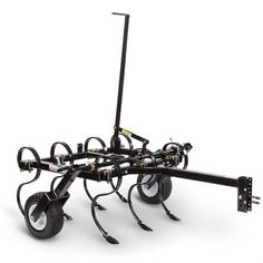 DR ATV Cultivator Wide, for ATVs, UTVs, or Garden Tractors Get your garden or food plot prepared for planting with our ATV Cultivator. Uproot field grass roots, or cultivate weeds between nursery or vineyard rows. Accessoires Quad, Farm H, Atv Attachments, Bobcat Skid Steer, Food Plot, Atv Accessories, Organic Farming, Welding, Planting