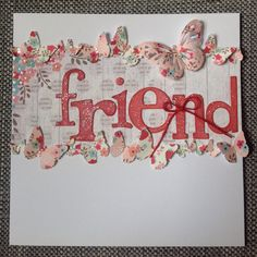 Card designed by Julie Hickey using Al Fresco Paper pad.