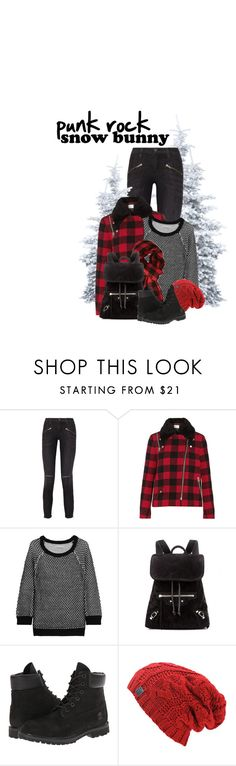 """""""Who Says All Bunnies Are Soft..."""" by hollowpoint-smile ❤ liked on Polyvore featuring Current/Elliott, Sandro, Alice + Olivia, Forever 21, Balenciaga and Timberland"""