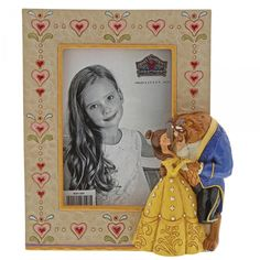 Disney Traditions Beauty And The Beast Photo Frame Picture Frame Sets, Wooden Picture Frames, Betty Boop, Jim Shore Disney, Stylish Photo Frames, Walt Disney, Figurine Disney, Aperture Photo, Art Populaire