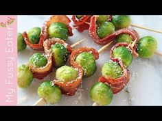 Bacon & Parmesan Brussels Sprout Skewers - My Fussy Eater