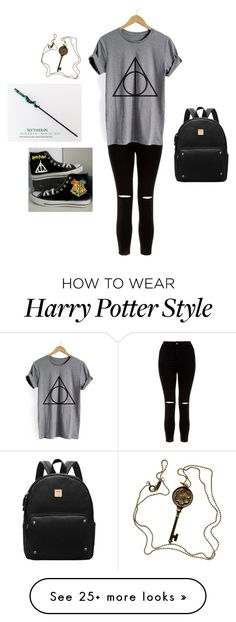 """""""Going to Harry Potter World"""" by iamzcookie on Polyvore featuring Tiffany & Co., New Look and Converse"""