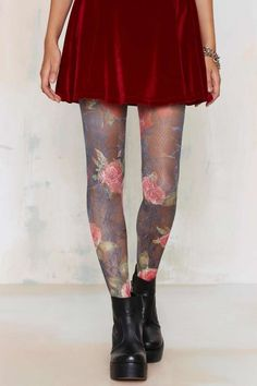 Look From London Bloom With A View Crochet Tights   Shop Accessories at Nasty Gal!