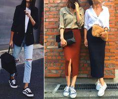 Dicas práticas de roupas e resposta para as dúvidas mais corriqueiras da Semana de Design de Milão. Calça jeans, jaqueta preta, blusa branca, saia preta, blusa bege.       #decoracao #decor #details #casadevalentina #criative #arte #milano #milandesignweek #fashion Casual Looks, Ideias Fashion, Capri Pants, My Style, Design, White Women's Hoodies, Flare Leg Jeans, Fashion Clothes, Jacket