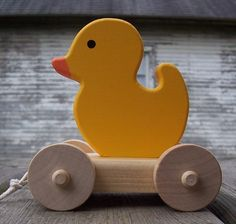 Duck Wood Pull Toy - Etsy