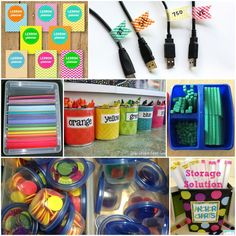 Tons of Class Organization Tips!...put colored dots in small containers for quick handout