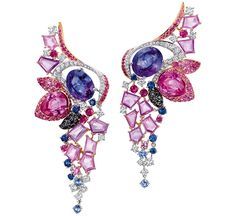 Le Glissement du Flamant earrings by Chow Tai Fook WOMEN'S ACCESSORIES http://amzn.to/2kZf4gO