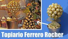 Arbol o topiario de bombones ferrero rocher
