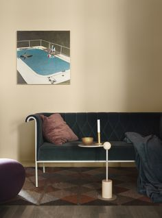 Simple but beautiful in beige, The color on the wall is called Strand, from Alcro.