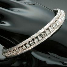 Vintage Diamond Tennis Bracelet White Gold