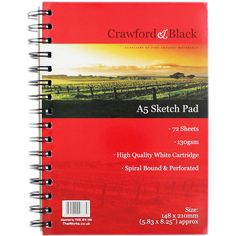 Crawford And Black A5 Sketch Pad | Sketchpads at The Works