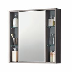 Specchio contenitore Lucky L 74 x H 75 x P 16 cm rovere grigio: prezzi e offerte online
