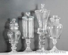 Dollar store candlesticks and glass jars crafts-diy Pot Mason, Mason Jars, Diy Jars, Bottles And Jars, Glass Jars, Glass Knobs, Glass Containers, Glass Candle, Perfume Bottles