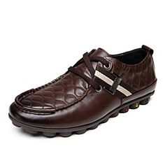 Men's Shoes Closed Toe Flat Heel Leather Oxfords Lace-up Shoes More Colors available