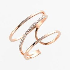 Women's kismet by milka 'Lumiere' Diamond Open Ring