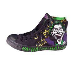 Mens Converse Chuck Taylor The Joker Dc comics Shoes 141261c New Black Rare 10