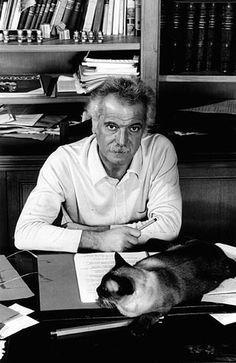 George Brassens et son chat