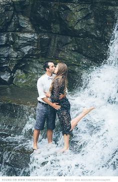 Waterfall couple shoot | Photo: Joel Bedford Photography