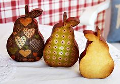 wooden ornament, wooden pears, wood craft on Etsy, $20.00